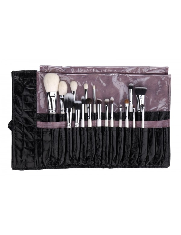 Set 18 pcs in black brush roll limited Em Vida