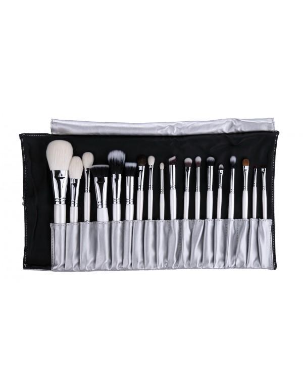 Set 18pcs in silver brush roll limited Em Vida